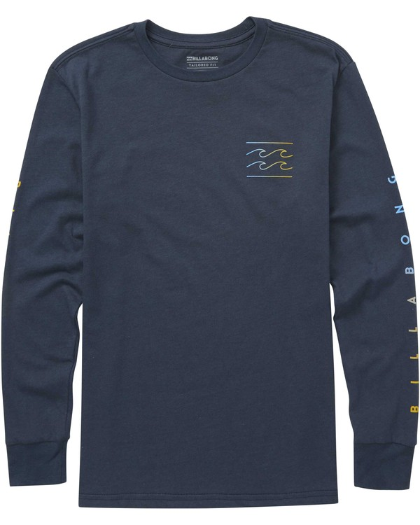 0 Boys' Unity Sleeves Long Sleeve Tee Blue B405QBUS Billabong