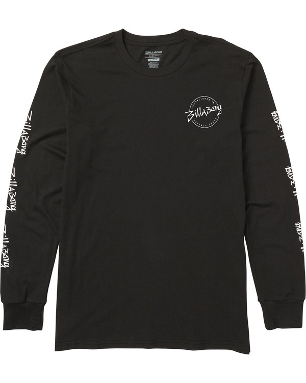 0 Boys' Eighty Six Long Sleeve Tee Shirt Black B405SBES Billabong