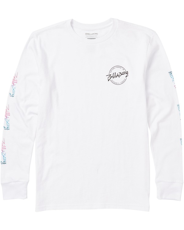 0 Boys' Eighty Six Long Sleeve Tee Shirt White B405SBES Billabong