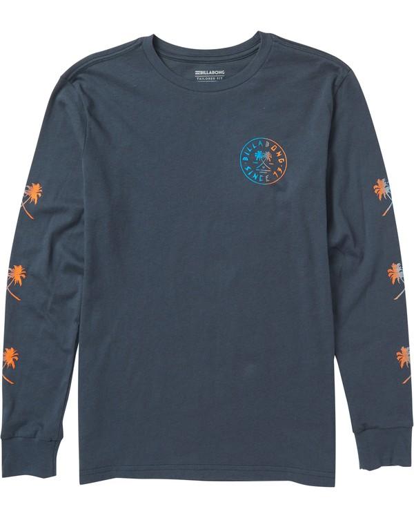 0 Boys' Tendencies Long Sleeve Tee Shirt Blue B405SBTE Billabong