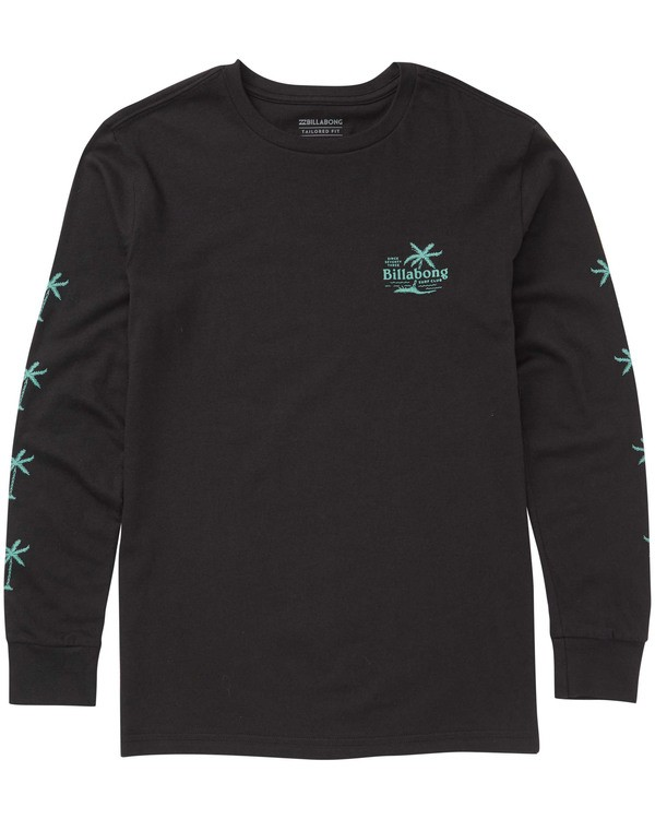 0 Boys' Surf Club Long Sleeve Tee Black B405TBSC Billabong
