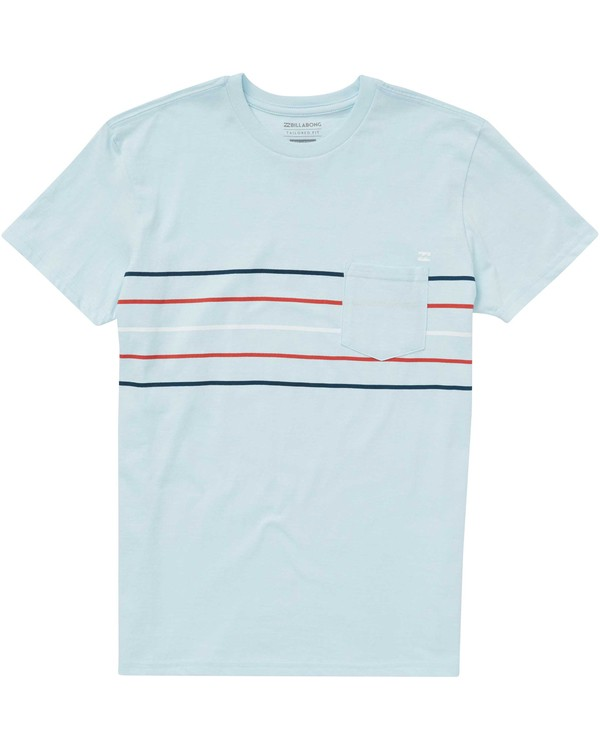 0 Boys' Team Stripe Tee Blue B431PBTS Billabong