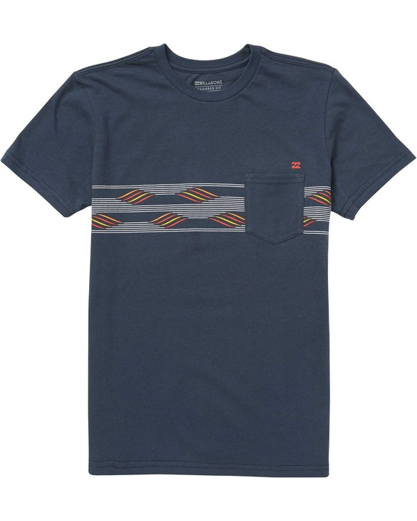 0 Boys' Team Stripe Tee Blue B431QBTS Billabong