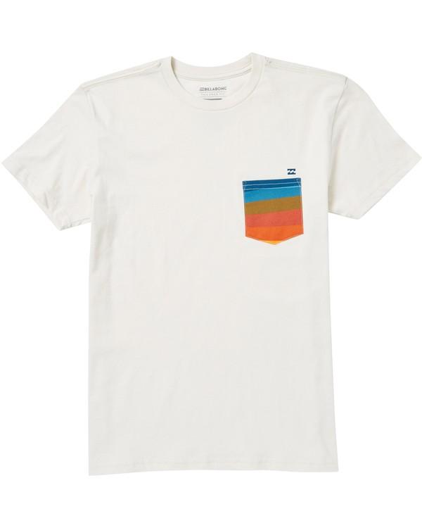 0 Boys' Team Pocket T-Shirt Brown B431SBTP Billabong