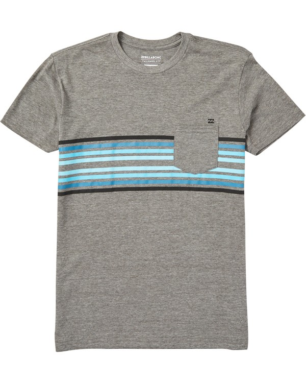 0 Boys' Spinner Pocket T-Shirt Grey B431SBTS Billabong