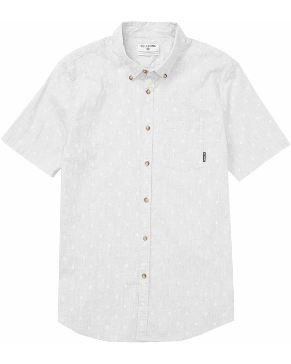 0 Boys' Sundays Mini Short Sleeve Shirt Grey B500MSUM Billabong