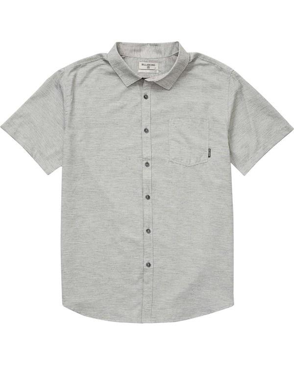 0 Boys' All Day Helix Short Sleeve Shirt Grey B500NBAL Billabong