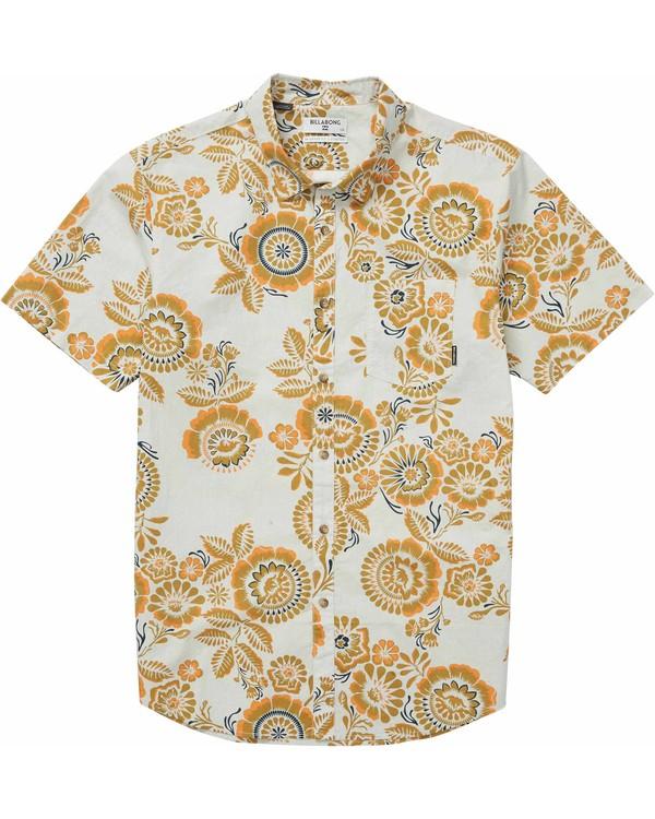 0 Boys' Sundays Floral Short Sleeve Shirt Brown B501LSUF Billabong