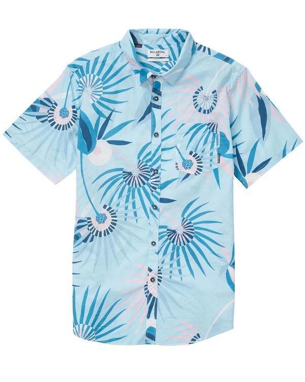 0 Boys' Sunday Floral Short Sleeve Shirt Blue B503NBSF Billabong