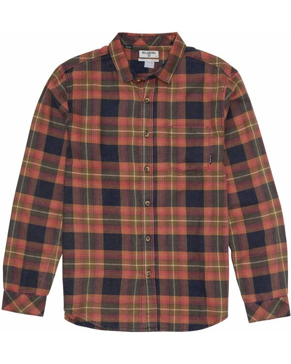 0 Boys' Freemont Flannel Shirt Blue B505MFRE Billabong