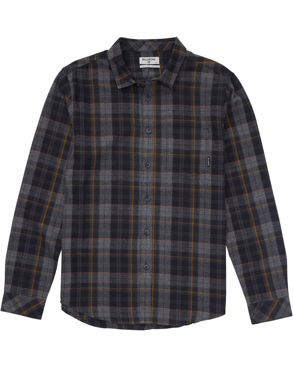 0 Boys' Coastline Flannel Shirt Black B508MCOA Billabong