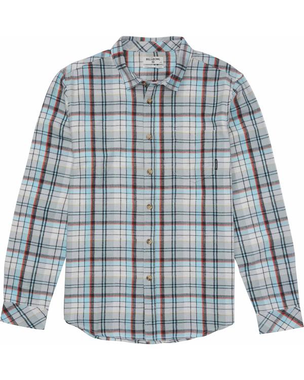 0 Boys' Coastline Flannel Shirt Grey B508MCOA Billabong