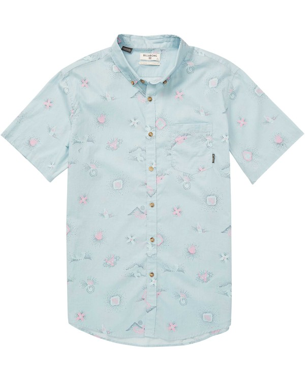 0 Boys' Sundays Mini Short Sleeve Shirt Blue B508QBSM Billabong