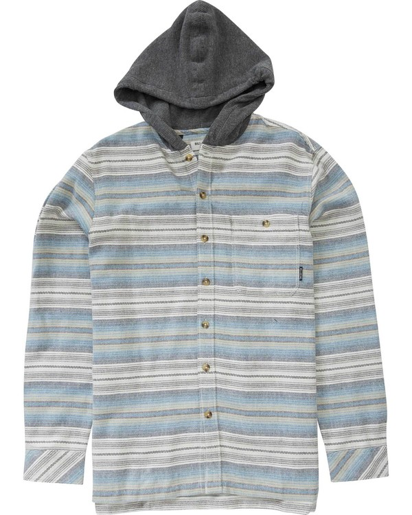 0 Boys' Baja Flannel Grey B511LBAJ Billabong
