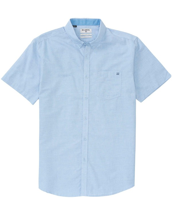 0 Boys' All Day Chambray Short Sleeve Shirt Blue B518JALL Billabong