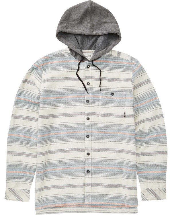 0 Boys' Baja Flannel Grey B521TBBF Billabong