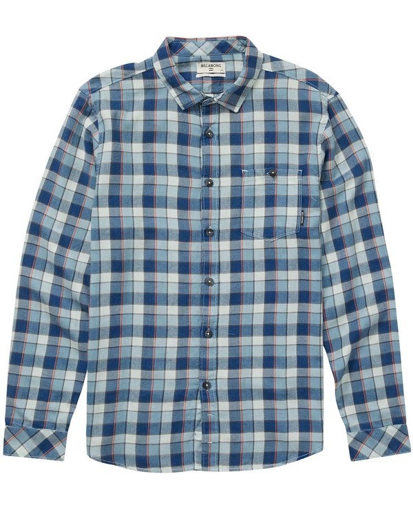 0 Boys Freemont Flannel Shirt Blue B523NBFR Billabong