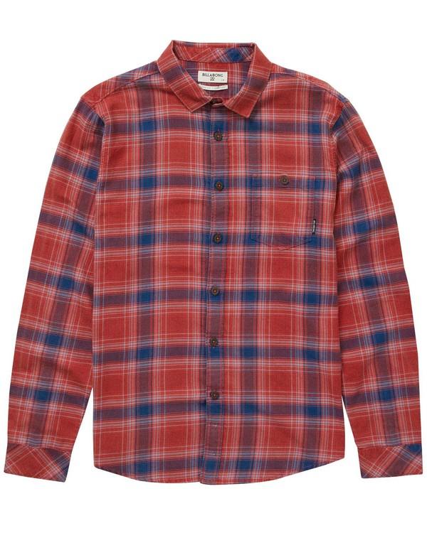 0 Boys Freemont Flannel Shirt Red B523NBFR Billabong