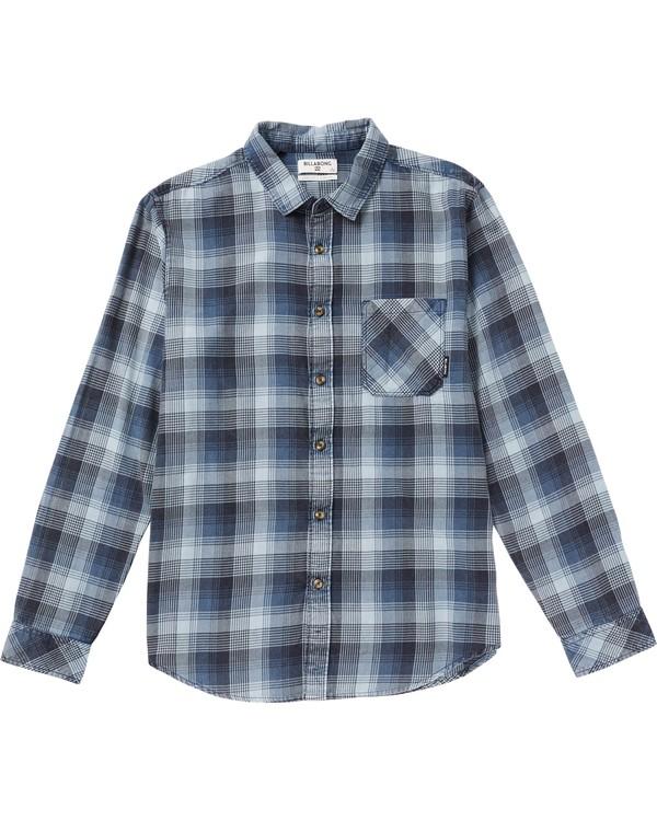 0 Boys' Freemont Plaid Flannel Shirt Blue B523SBFR Billabong