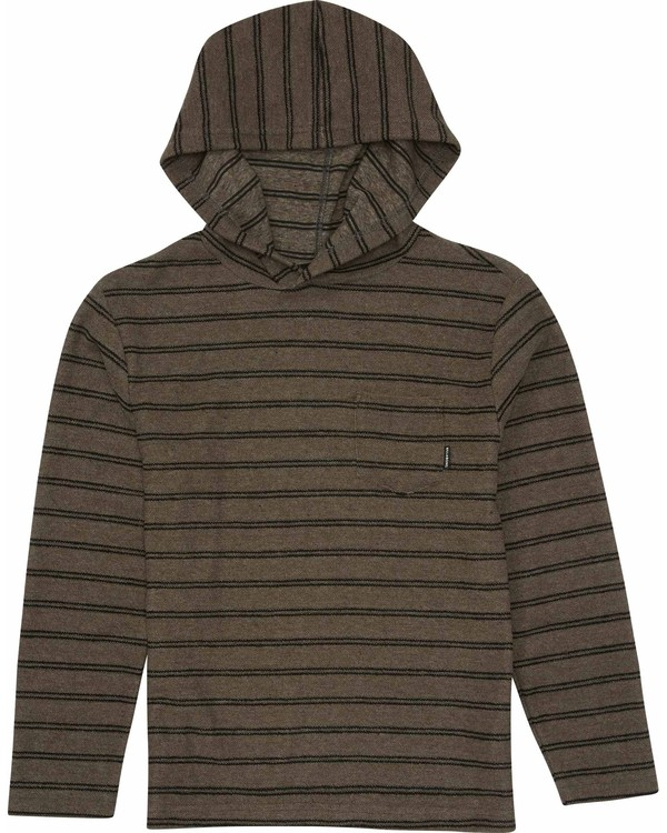 0 Boys' Flecker Pullover Hoody Black B640LFLE Billabong