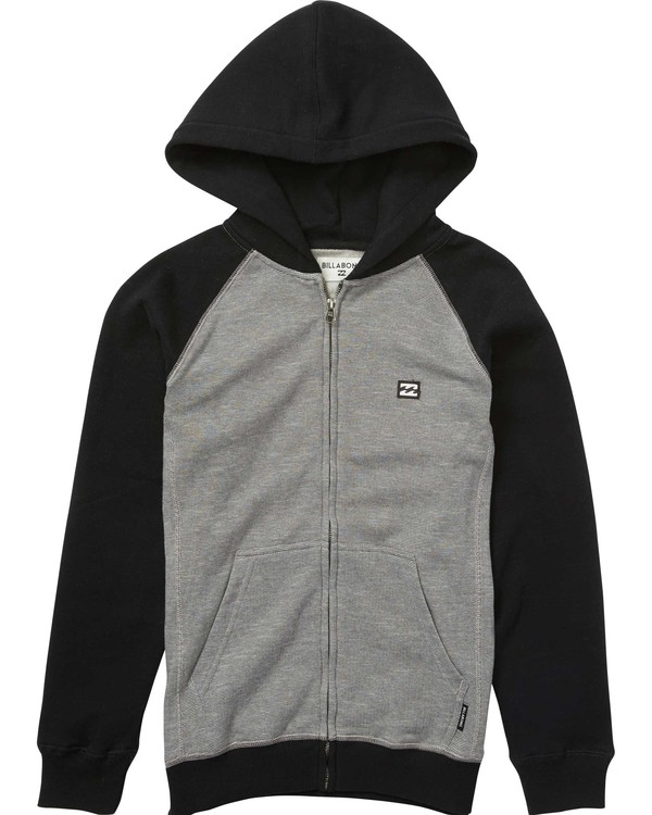 0 Boys' Balance Zip Hoodie Black B665LBAZ Billabong