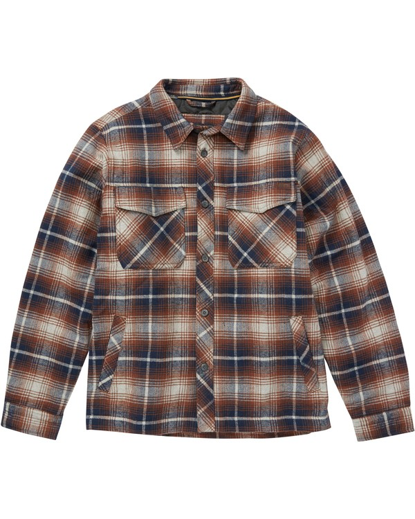0 BARLOW PLAID Grey B704QBBP Billabong