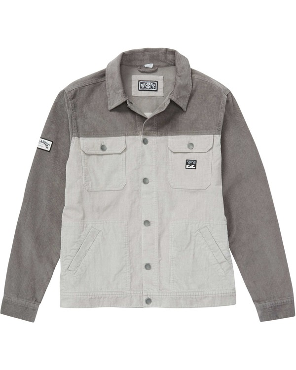 0 THE CORD JACKET Grey B712QBTC Billabong