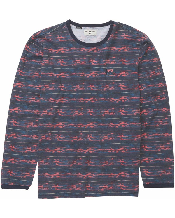 0 Boys' Nelson Ls Crew Knit Tee Blue B905MNEL Billabong