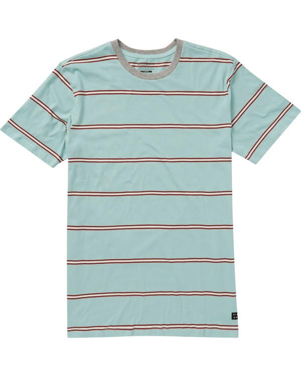 0 Boys' Die Cut Stripe Crew Tee Grey B905NBDI Billabong