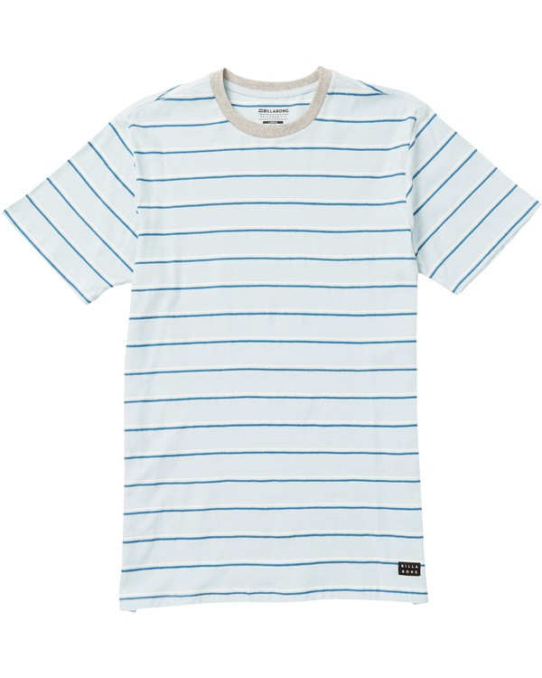 0 Boys' Die Cut Stripe Crew Tee Blue B905NBDI Billabong