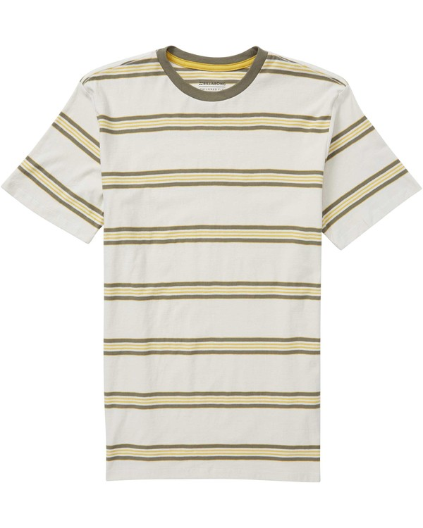 0 Boys' Die Cut Stripe Crew Tee Grey B905NBDI Billabong