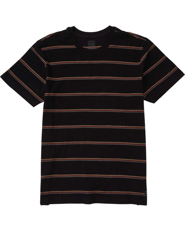 0 Boys' Die Cut Stripe Short Sleeve Crew Black B905TBDI Billabong