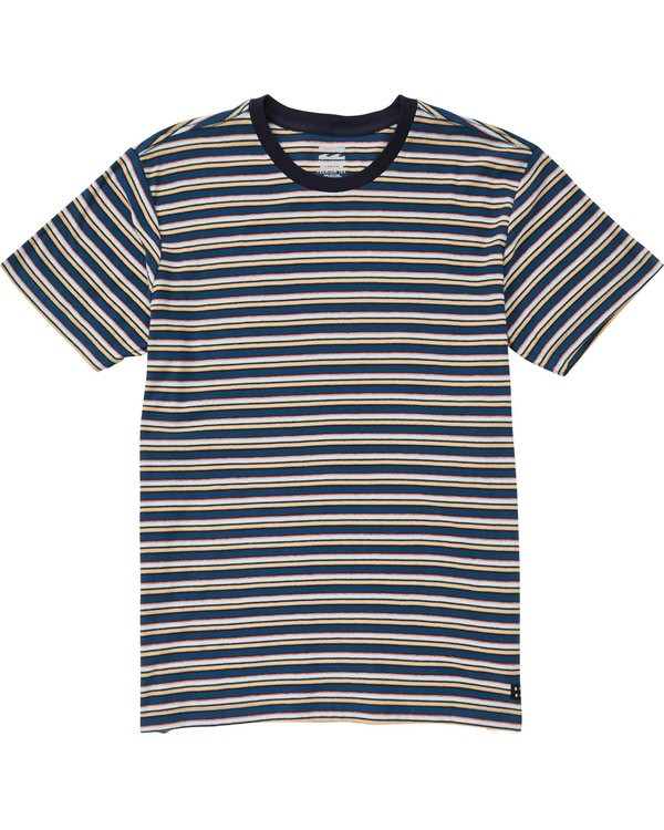 0 Boys' Die Cut Stripe Short Sleeve Crew Blue B905TBDI Billabong