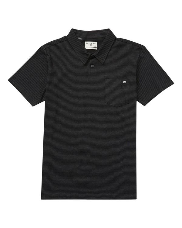 0 Boys' Standard Issue Polo Shirt Black B915LSTA Billabong