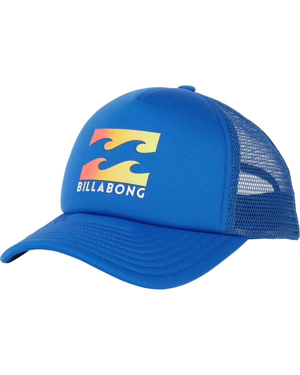 0 Boys' Podium Trucker Hat Blue BAHTGPOD Billabong