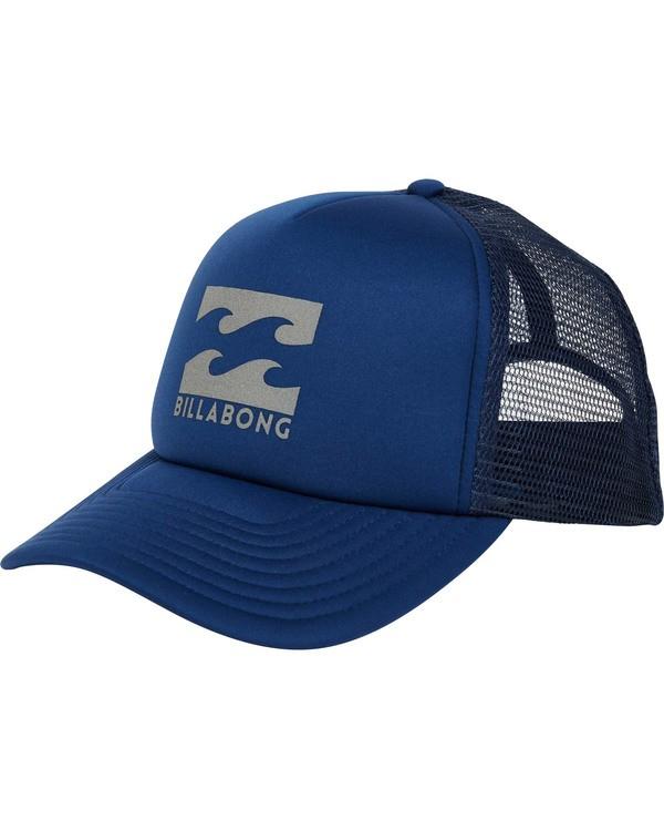 0 Boys' Podium Trucker Hat Blue BAHTGPOD Billabong
