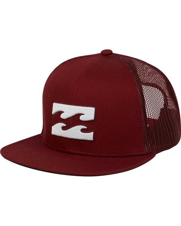 0 Boys' All Day Trucker Hat Brown BAHWNBAD Billabong