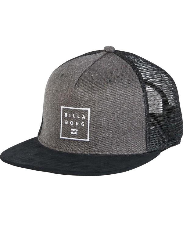 0 Boys' Stacked Trucker Hat Black BAHWNBAN Billabong