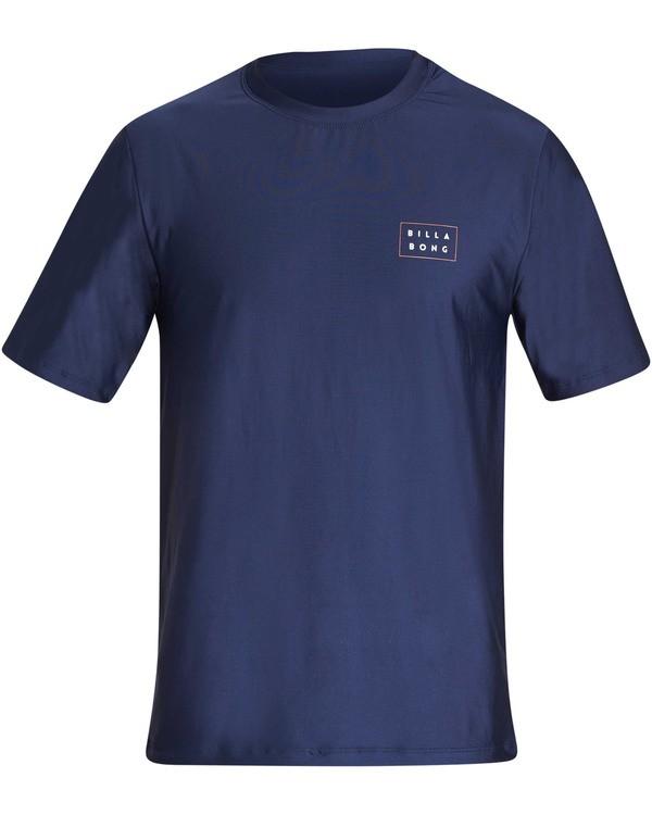 0 Boys Die Cut Loose Fit Short Sleeve Rashguard Blue BR01TBDC Billabong