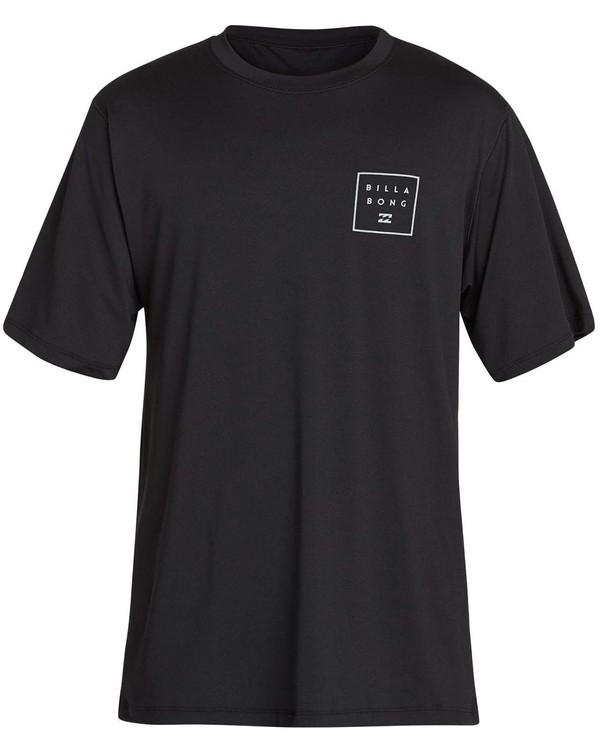 0 Boys' All Day Mesh Lf Short Sleeve Rashguard Black BR04NBML Billabong