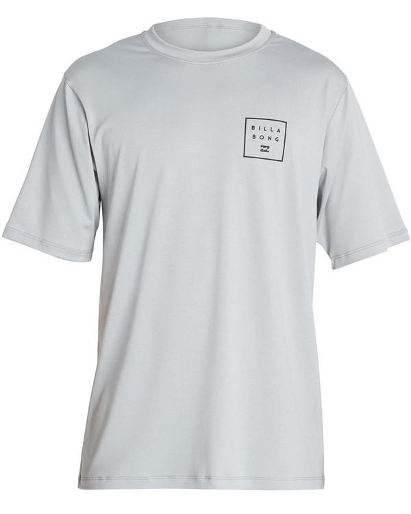 0 Boys' All Day Mesh Lf Short Sleeve Rashguard  BR04NBML Billabong