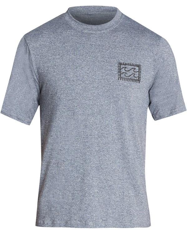 0 Boys' Nairobi Loose Fit Short Sleeve Rashguard Grey BR24TBNA Billabong