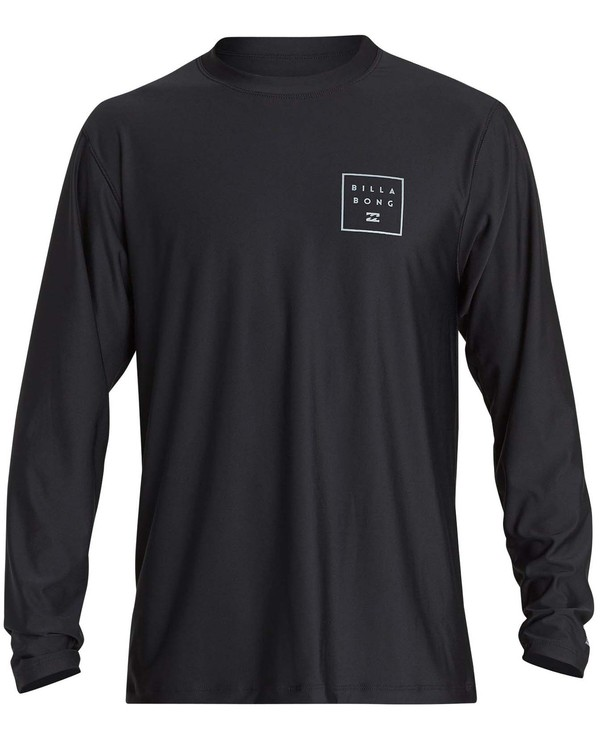 0 Boys' All Day Mesh Lf Ls Rashguard Black BR53NBAM Billabong