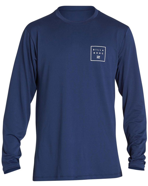 0 Boys' All Day Mesh Lf Ls Rashguard Blue BR53NBAM Billabong