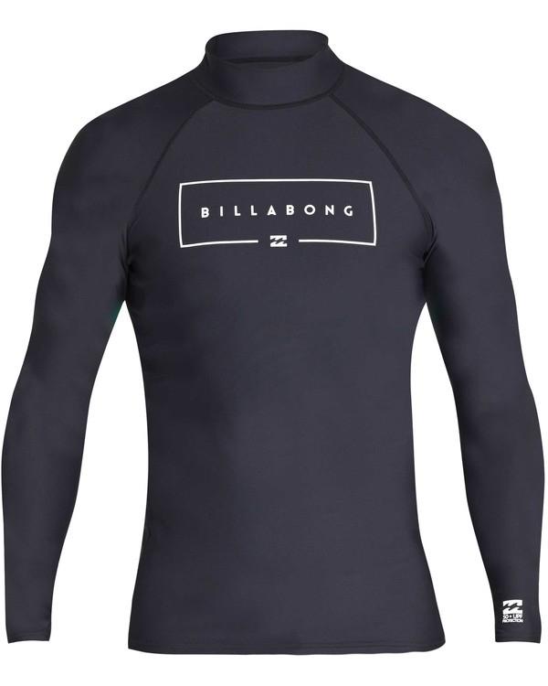 0 Boys' Union Performance Fit Long Sleeve Long Sleeve Rashguard Black BR60TBUN Billabong