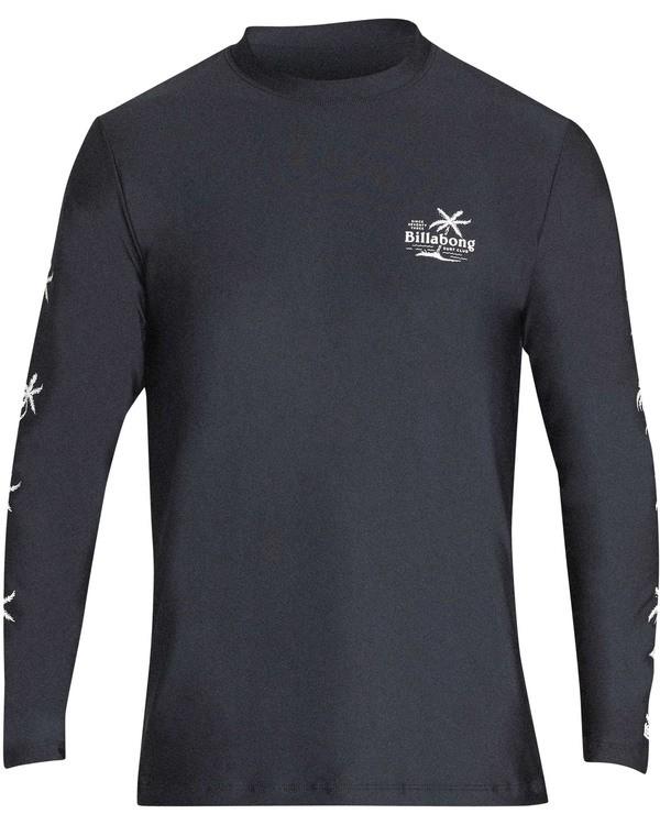 0 Boys' Surf Club Loose Fit Long Sleeve Rashguard Black BR61TBSU Billabong