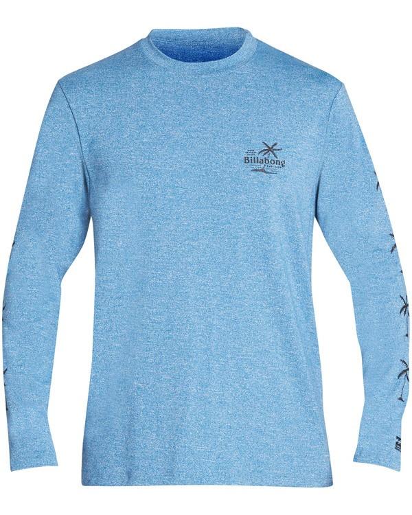 0 Boys' Surf Club Loose Fit Long Sleeve Rashguard Blue BR61TBSU Billabong