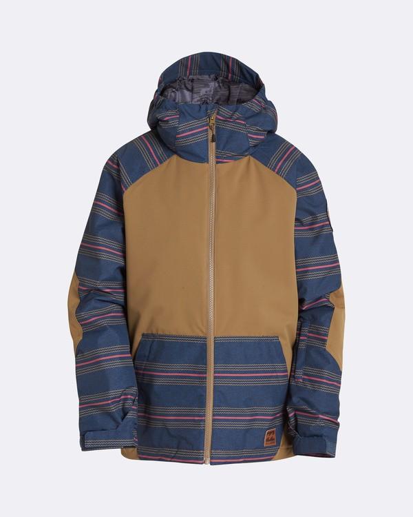 0 Boys' All Day Outerwear Jacket Brown BSNJQADI Billabong