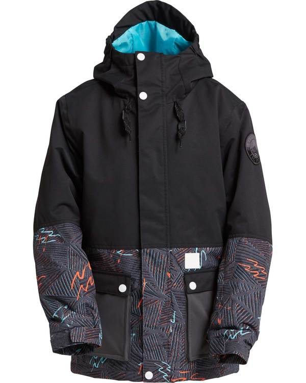 0 Boys' Fifty 50 Outerwear Jacket Black BSNJQFIF Billabong