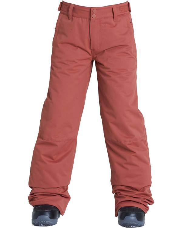 0 Boys' Grom Outerwear Pants Brown BSNPQGRO Billabong